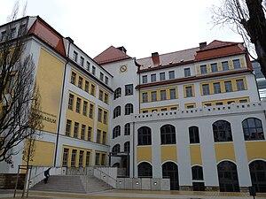 Martin-Andersen-Nexö-Gymnasium Dresden - School building, photographed in 2009