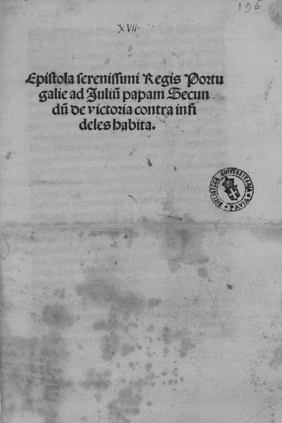 Manuel - Epistola de victoria contra infideles habita, 1507 - 4592250