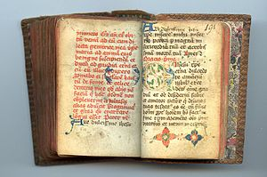 Miniature Prayer Book In Latin, illuminated ma...