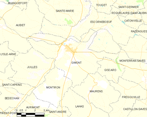 Gimont - Gimont and its surrounding communes