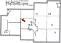 Map of Allen County Ohio Highlighting Elida Village.png