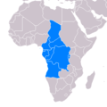 Map of Barthélemy Boganda's proposed United States of Latin Africa.png