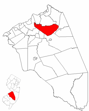 Springfield Township, Burlington County, New Jersey - Image: Map of Burlington County highlighting Springfield Township
