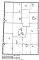 Map of Darke County Ohio Highlighting Hollansburg Village.png