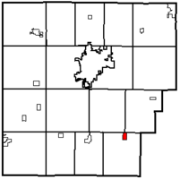 Location within Hancock County