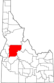 Map of Idaho highlighting Valley County.svg