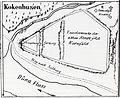 Map of Kokenhusen (Koknese) in 1842.jpg