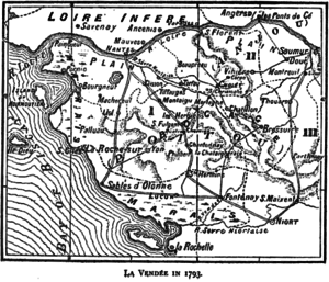 Charles Aimé de Royrand - Map of La Vendée in 1793