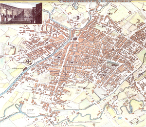 English: Map of Manchester from 1801.