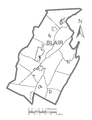 Map of Newry, Blair County, Pennsylvania Highlighted.png