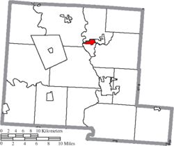 Location of South Bloomfield in Pickaway County