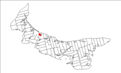 Map of Prince Edward Island highlighting Prince Royalty.png