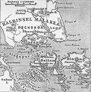 Singapur gegen Ende des 19. Jahrhunderts