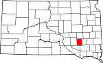 State map highlighting Davison County