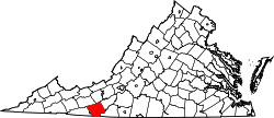 Map of Virginia highlighting Carroll County.svg