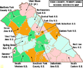 Map of York County Pennsylvania School Districts.png