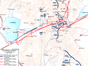 Battle of Kleisoura Pass - Map of the battle
