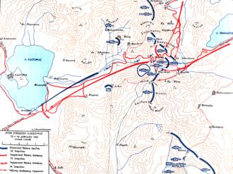 Battle of Kleisoura Pass - Map of the battle