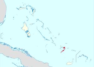 Deutsch: Positionskarte der Bahamas Quadratisc...