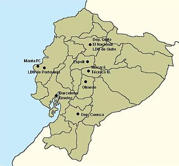 Mapa Serie A Ecuador 2009