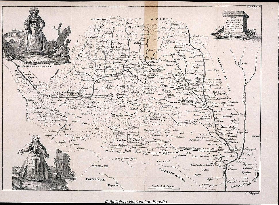 Mapa do bispado de Astorga (1761)