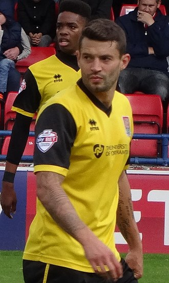Marc Richards - Richards playing for Northampton Town in 2014