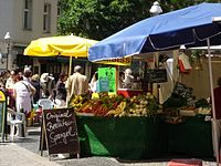 Berlin marketplace.