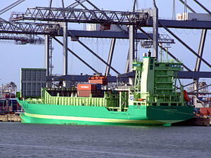 Margaretha p1 loading and unloading in the Amazone harbour Port of Rotterdam 14-Jan-2007.jpg