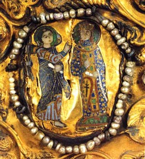 Mariam of Vaspurakan - Mariam, Dowager Queen of Georgia (a detail from the Khakhuli icon)