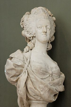 Louis-Simon Boizot - Bust of Marie Antoinette, exhibited at the Salon of 1781 (Louvre)