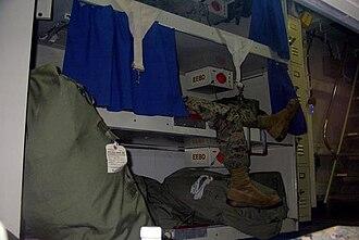 "USS Juneau (LPD-10) - USMC berthing area on board the Mighty ""J"" circa 2004."