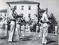 Marine Corps Bagpipers, Quantico, circa 1943 (7549598572).jpg