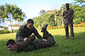 Marines practice Joint lock-MURAI, Singapore-2011.jpg