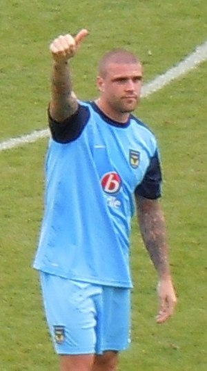Mark Creighton - Creighton playing for Oxford United in 2010