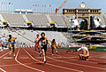 Mark Whiteman finishing race, Barcelona 1992 Paralympics.jpg