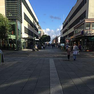 Kvadraturen (Kristiansand) - Image: Markens gate, Kristiansand