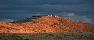 Mount John University Observatory - UCMJO site at sunset in 2007