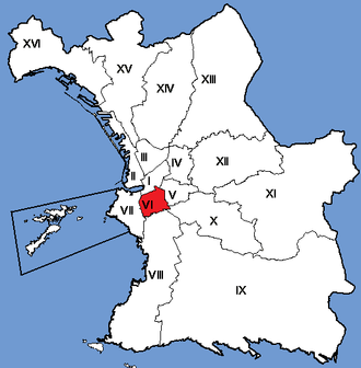 6th arrondissement of Marseille - Image: Marseille Arrondissements 06
