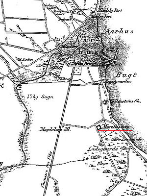 Marselisborg (manor) - Map of the Marselisborg estate c. 1846