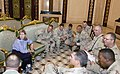 Marsha Blackburn meets with members of a US Army reserve unit stationed in Baghdad.jpg