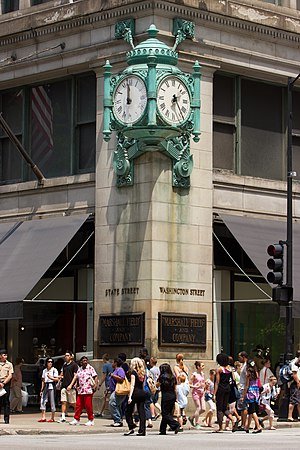 Marshall Field and Company Clock Chicago June 30, 2012-125.jpg