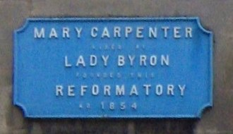 Mary Carpenter - Blue plaque on the Red Lodge, Bristol.