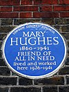 Mary Hughes Blue Plaque.JPG