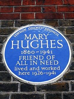 Mary hughes blue plaque