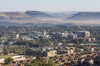Maseru - Maseru as seen from Parliament Hill