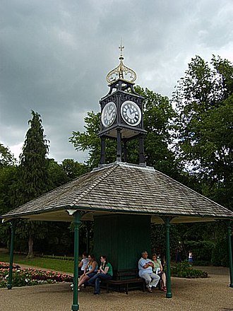 Matlock, Derbyshire - The old tram shelter in the park