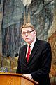 Matti Vanhanen, statsminister Finland, talar i plenum under sessionen i Kopenhamn 2006.jpg