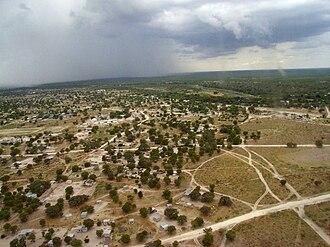 Maun, Botswana - Maun from the air in 2007