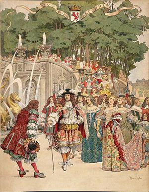Maurice Leloir - Image: Maurice Leloir Le Roy Soleil Fouquet recevant le roi à Vaux