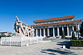 Mausoleum of Mao Zedong and sculpture 1 2010 April.jpg